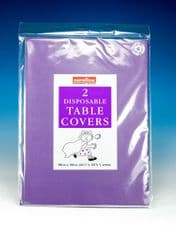 Caroline Square Paper Tablecovers - 90cm Purple
